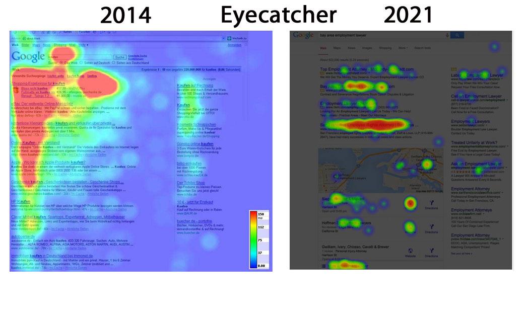 Eyecatcher Vergleich 2014 und 2021
