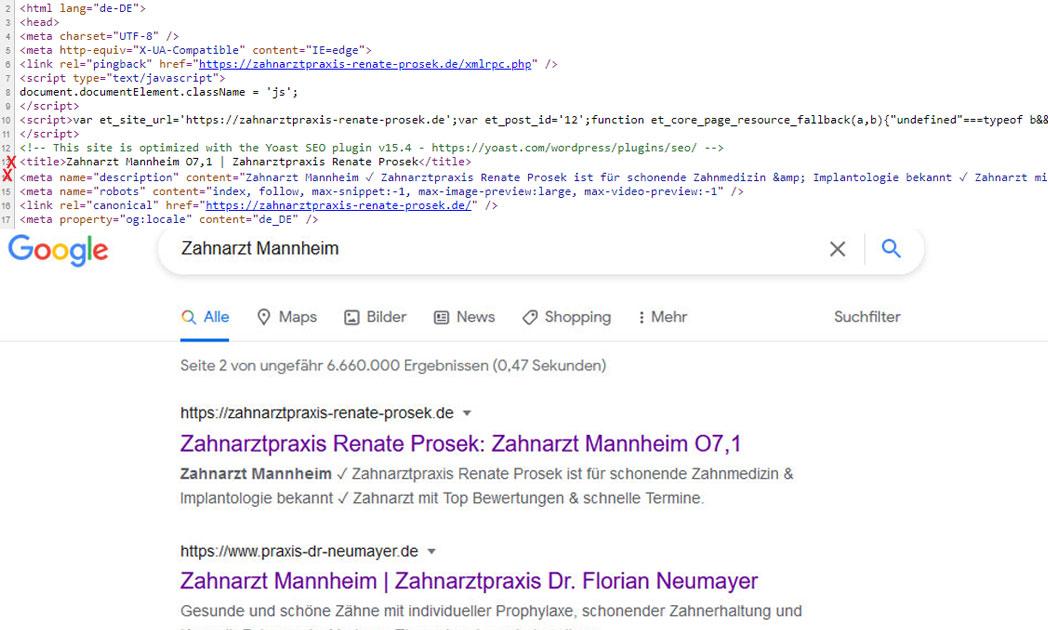 SEO: Metatag Title und Description optimieren