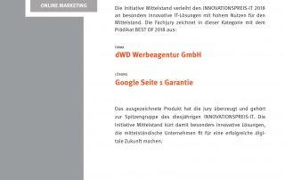 Google Seite 1, Webdesign, Shopsystem, SEO, Suchmaschinenoptimierung, Internetwerbung, Filmproduktion, Imagefilm, Webshop